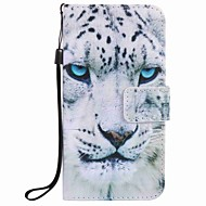 For Samsung Galaxy J7 J5 (2016) J3 (2016) J1 (2016) Case Cover White Leopard Painting PU Phone Case J5 J3 G360 G530