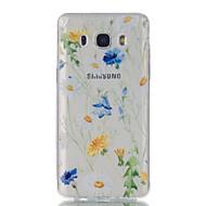 Til samsung galaxy j7 j5 chrysanthemum mønster høj permeabilitet tpu materiale telefon taske