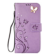 For Samsung Gaiaxy S7 S6 Case Cover Aescin Butterfly Pattern Embossing Point Drill PU Leather Material