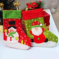 2pcs / lot santa jul strømpe til fest dekoration socking gave jul sokker til julegave&dekoration