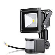 Ac85-265v 10w koud wit / warm wit 1000lm infrarood menselijk lichaam inductie led floodlight 1pc