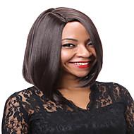 여성 인조 합성 가발 캡 없음 스트레이트 체스트넛 브라운 블루 내츄럴 가발 의상 가발