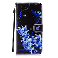 Para Porta-Cartão / Carteira / Com Suporte / Flip Capinha Capa Traseira Capinha Borboleta Rígida Couro PU para AppleiPhone 7 Plus /