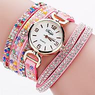 Xu™ 아가씨들 패션 시계 손목 시계 석영 PU 밴드 빈티지 캐쥬얼 블랙 화이트 블루 레드 브라운 핑크 퍼플 네이비 아이보리