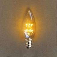 1W E26/E27 LED Globe Bulbs 20 Dip LED 40 lm Yellow Decorative AC 220-240 V 1 pcs