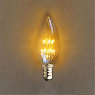 1W E14 Διακοσμητικό Φως C35 20 Dip LED 40 lm Κίτρινο Διακοσμητικό AC 220-240 V 1 τμχ