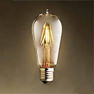 4W E26/E27 LED Filament Bulbs ST58 4 SMD 2835 400 lm Warm White Decorative AC 220-240 V 1 pcs
