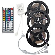 15m (3 * 5m) 5050 rgb 450 leds strip flexibel licht LED tape lichtslingers niet waterdicht DC 12V 450leds met 44Key ir controller kit