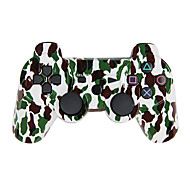 Camouflage Dual Shock Wireless Bluetooth Game Controller + Button Protector + Cable + Silicone Case for Sony PS3