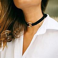 Dame Kort halskæde Tatovering Choker Smykker Cirkelformet Fløjl Tatovering Mode Personaliseret Europæisk Smykker Til Bryllup Fest Daglig