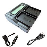 ismartdigi bpu90 lcd double chargeur avec câble de charge de voiture pour sony batterys EX1R ex160 EX260 ex280 fs5 fs7 de caméra