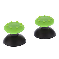 Replacement 3D Rocker Joystick Cap Shell Mushroom Caps for Ps3 Wireless Controller + Antislip Rubber
