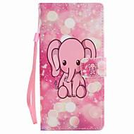 Varten sony xperia xa ultra x suorituskyky kotelo kattaa vaaleanpunainen elefantti maalattu kaulanauha pu puhelimen tapauksessa