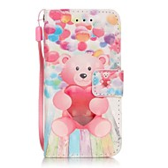 Balloon Bear 3D Painting PU Phone Case for apple iTouch 5 6
