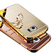 Mert tokok Galvanizálás Tükör Hátlap Case Egyszínű Kemény PC mert Samsung S8 Plus S8 S6 edge plus S6 edge S6 S5 S4 S3