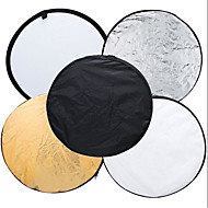 80cm 5 in 1 32 Light Mulit Collapsible Disc Reflector Portable Light Round Photography Photo Reflector for Studio