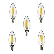 5pcs E14 4W 400LM Light LED Filament Lamp (85-265V)