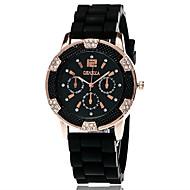Xu™ 아가씨들 패션 시계 팔찌 시계 석영 실리콘 밴드 빈티지 캐쥬얼 블랙 화이트 블루 레드 오렌지 그린 퍼플 옐로우 퓨샤 레드 그린 블루