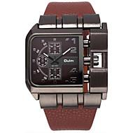 Oulm Herren Armbanduhr Quartz / PU Band Cool Bequem Luxuriös Schwarz Blau Rot Braun Weiß Schwarz Kaffee Rot Blau