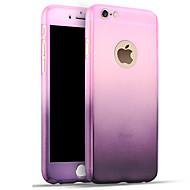 のために 耐衝撃 ケース バックカバー ケース カラーグラデーション ハード PC のために Apple iPhone 7プラス / iPhone 7 / iPhone 6s Plus/6 Plus / iPhone 6s/6