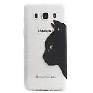 Mert Átlátszó / Minta Case Hátlap Case Cica Puha TPU mert Samsung J5 (2016) / J5 / J3 / J3 (2016)