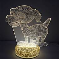 3D Effect for Holiday Best Gift Small Eye Dog Design 2W Led Night Light