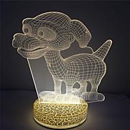 Efekt 3D dla projektowania wakacyjne najlepszy prezent mały pies oko 2W doprowadziły Night Light