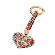 Key Chain Leisure Hobby Key Chain / Diamond / Gleam Heart-Shaped Metal Red For Boys / For Girls