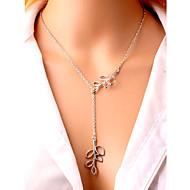 女性用 女性´ ペンダントネックレス リーフ 銀メッキ 合金 調整可能 欧風 ファッション シルバー ジュエリー のために パーティー 日常 カジュアル ビーチ 1個