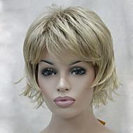 新しいショートウィッグ途切れ途切れの層は、前髪の女性のかつらでカーリーフリップ