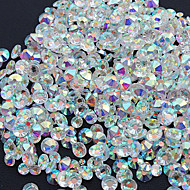 1440PC/Bag High Quality Nail Art Jewelry Nail Rhinestones Decorations Crystal Glitter (Assorted 6 Sizes)