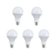 9W E26/E27 LEDボール型電球 A60(A19) 15 SMD 5630 330-360 lm 温白色 / ナチュラルホワイト 装飾用 交流220から240 V 5個