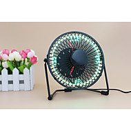 Nieuwigheid UF-240-07 130cm Clock Fan with Floating LED Time Display  145*168*115 Zwart