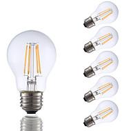 3.5W E26 LED Filament Bulbs A17 4 COB 350 lm Warm White Dimmable 120V 6 pcs