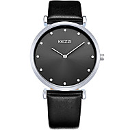 KEZZI カップル用 ファッションウォッチ リストウォッチ / クォーツ レザー バンド クール カジュアルスーツ ブラック 白 ブラウン