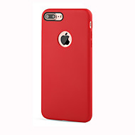 Para Antichoque Capinha Capa Traseira Capinha Cor Única Macia TPU para AppleiPhone 7 Plus / iPhone 7 / iPhone 6s Plus/6 Plus / iPhone