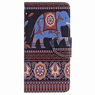 Voor Samsung Galaxy J7 prime j5 prime bruin olifant schilderij pu telefoon hoesje