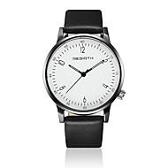 REBIRTH Uniseks Modieus horloge Polshorloge Kwarts / Leer Band Vrijetijdsschoenen Zwart Wit Wit Zwart Zwart/Zilver