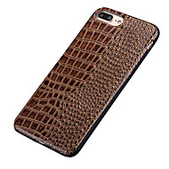For Støtsikker Etui Bakdeksel Etui Ensfarget Myk PU-lær for Apple iPhone 7 Plus / iPhone 7 / iPhone 6s Plus/6 Plus / iPhone 6s/6