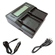 מטען כפול ismartdigi LCD el14 עם כבל מטען לרכב עבור batterys מצלמת ניקון d3200 d3300 D5100 d5200 d5300 D5500