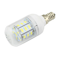 4W Clear PVC Cover E14 LED Corn Light 27 SMD 5730 280Lm AC/DC 12-24V or AC 110-220V Warm /Cool White (1 Piece)