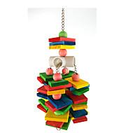 새 새 장난감 나무 나일론 멀티색상