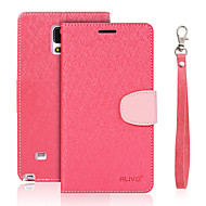 For Samsung Galaxy Note5 Note4 Case Cover Silk PU Mobile Phone Holster Note3 Note2
