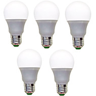 9W E26/E27 LED Globe Bulbs A60(A19) 12 SMD 2835 850 lm Warm White Cool White Decorative AC 220-240 V 5 pcs
