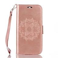 Pour Portefeuille Porte Carte Avec Support Clapet Relief Coque Coque Intégrale Coque Mandala Dur Cuir PU pour HTC HTC One M8
