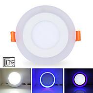 6W + 3W 3model led lamp paneel licht dubbele kleur led plafond inbouwspots binnenverlichting