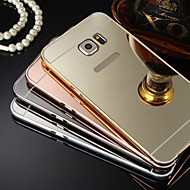 Plating Mirror Back with Metal Frame Phone Case for Galaxy S7 S4 S5 S6 edge plus