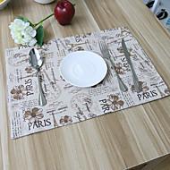 Neliö Patchwork Patterned Placemats , Cotton Blend materiaali Hotel ruokapöytä Taulukko Dceoration