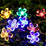 6.5m 50 perzik bloesem zonne-energie lamp kerst halloween decoratieve verlichting feestelijke strip verlichting