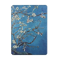 For Apple iPad 2 3 4 Case Cover Apricot Flowers Pattern PU Leather Stent Flat Shell
